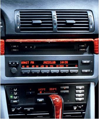 CD RADIO STEREO FASCIA FACIA PANEL SURROUND POCKET FITS BMW 5 SERIES 96-03 E39